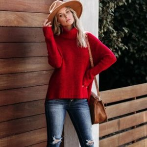 KENDRA Knit Turtleneck Sweater